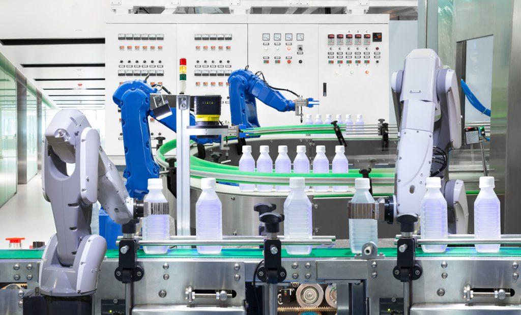خط تولید کارخانه مدرن در عصر نوین